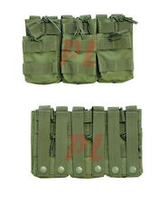 MOLLE TACTICAL Triple Stacker .223 or 5.56mm Magazine MAG Pouch Ammo Carrier-OD