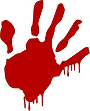 1 Zombie Red Blood Hand Decal Sticker Plain Outbreak Response Hunter 1261