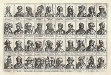 Antique engraving, No title. Dukes of Brabant. 40 portraits of …
