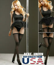"1/6 Sexy Stripper Dancer Lace Dress Stockings Set B For 12"" Phicen Hot Toys USA"