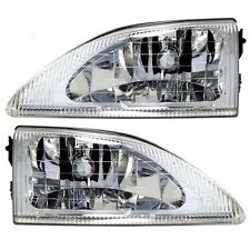 1994 - 1998 FORD MUSTANG W/COBRA HEADLIGHTS HEADLAMPS LIGHTS LAMPS PAIR