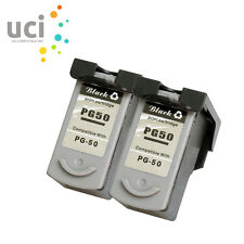 2 Black Ink Cartridge for Canon PG50 Pixma iP2200 iP2400 iP6220D MP150 MP160