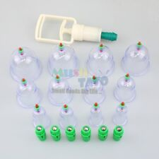 New 12 Traditional Chinese Cupping Therapy Set Magnets Great Health Gift