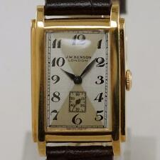 J.W.Benson Art Deco 9ct Solid Gold Men's / Ladies 15 Jewel Vintage 1920's Watch