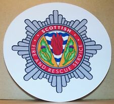 Scottish Fire and Rescue Service/Fire Brigade  vinyl sticker personalised..