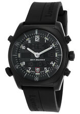 NEW Luminox Men's SR-71 Blackbird Multi-Function Black Poly Band Watch 9041