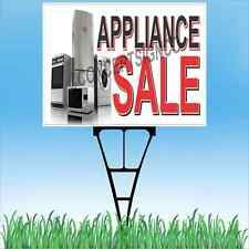 """18""""x24"""" APPLIANCE SALE Outdoor Yard Sign & Stake Lawn Washer Dryer Oven Kitchen"""