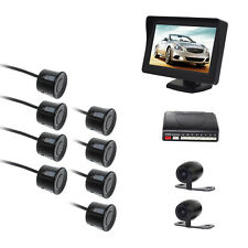 8 Sensors Parking Reversing Radar System with 2 Camera (Front +Rear) LCD Monitor