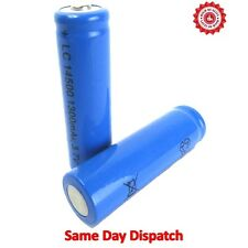 NEW 2 x Rechargeable 1300 mAh Batteries LC 14500 3.7V Powerful Li-Ion Battery UK