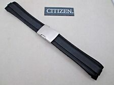 Genuine Citizen AT4005-09E AT4008-01E watch band black rubber deployment buckle