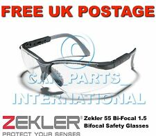 Zekler 55 Bi-Focal 1.5 Bifocal Safety Glasses UV & Scratch resistant