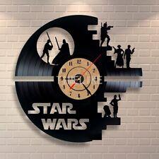 Reloj De Pared Star Wars Hecho a Mano vinyl record moderno Vintage