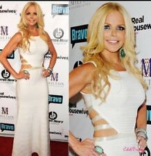 Bandage Formal Gown White Cut Out Bodycon Rayon Prom Sexy Evening Party Dress