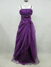 Cherlone Plus Size Purple Long Ballgown Bridesmaid Wedding Evening Dress 18-20