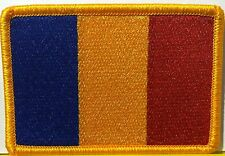 CHAD Flag Velcro Patch Military Police Tactical Shoulder Gold Emblem