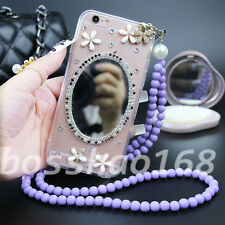 Glitter Luxury Bling Diamonds Soft TPU Gel Shell back Case Cover with strap #1