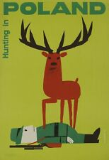 A3 SIZE - POLAND HUNTING IN  - Vintage Retro Travel & Railways Poster Print #3