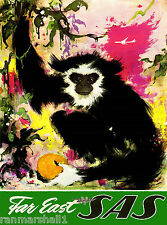 Far East Monkey China Asian Asia Chinese Vintage Travel  Advertisement Poster