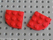 LEGO Red plate corner round 30357 / set 10024 8654 5770 3830 8157 8159 6752 4883