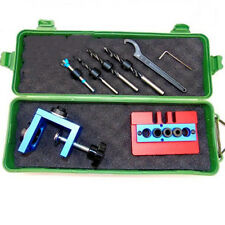 3 In 1 Pocket Hole Jig Woodworking Tool Set with Toggle Clamp and Step Drill Bit