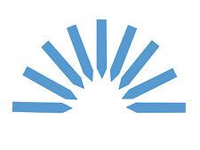 100x Stecketiketten 1,6 x 10 cm blau Etiketten Pflanzschilder Pflanzenschilder
