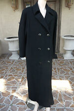 Vtg REGENCY CASHMERE Black Cashmere DB Long Coat/Size 8