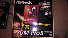 AMD FX-8320E 8Core  AM3+ & AsRock 970M Pro3 MicroATX Motherboard NEW combo