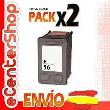 2 Cartuchos Tinta Negra / Negro HP 56XL Reman HP Officejet 5610 V