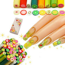 25pcs DIY 3D Nail Art Flower Fruit Fimo Canes Rods Sticks Sticker Decoration