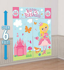 WOODLAND FAIRY Scene Setter BIRTHDAY PARTY wall decoration castle princess 6'