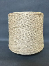 QUALITY YARN CONE 2 PLY VISCOSE / LINEN UNTREATED BEIGE COLOUR 950g 19 BALLS