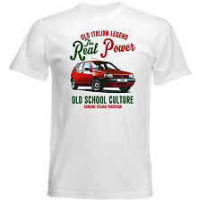 VINTAGE ITALIAN CAR FIAT TIPO 1990 REAL POWER - NEW COTTON T-SHIRT