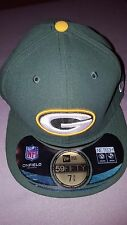 NEW ERA 59 FIFTY NFL GREEN BAY PACKERS ONFIELD GREEN FITTED HAT CAP 7 3/8 NEW
