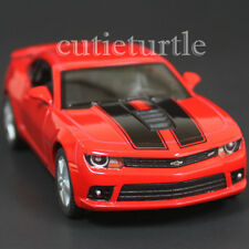 Kinsmart 2014 Chevrolet Camaro SS 1:38 Diecast Toy Car Red with Black Stripes