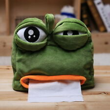 Pepe the frog Sad frog Tissue Box Napkin Cover Paper Holder Handkerchief New S2