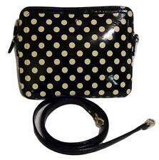 KATE SPADE Black & White Patent Leather Vinyl  X-Body Bag- for Tablet/Laptop