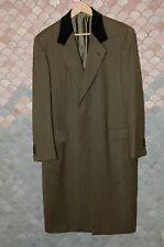 BRIONI Sage Green Wool Overcoat Eu 50 / US 40R, M, Custom Finished, NOS, Mint