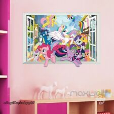 3D My Little Pony Window Wall Decals Removable Stickers Girl Nursery Decor Gift