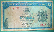 RHODESIA 1 DOLLAR NOTE ISSUED 18.04. 1978, P 30 b, WATERMARK : CECIL RHODES