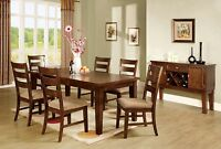 Dining Room Contemporary 7pc Dining Set Dining Table Chairs Solid Wood Furniture
