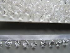 Clear Crystal Beaded Fringe/Trim TOP QUALITY  Sewing/Costume/Crafts/Corsetry