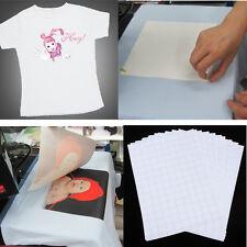 10X Blatt A4 T-Shirt Transfer Transferfolie Textilfolie Bügelfolie helle Stoffe