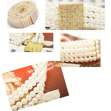 Decorative Belt Elastic Waist Chain Rhinestone Pearl Dress Chain Belts Ceinture