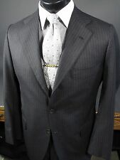 $6000 KITON Charcoal Gray Wool Suit 48 38 R 3 Button 3/2 Roll.
