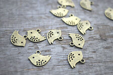 30pcs-- Vintage Style Bird charms,Gold Sparrow Dove,bird pendants 13x16mm