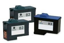 3 Pack #82 #83 Black/Color Ink Cartridges for Lexmark X5150 X6150 X6170 X6180