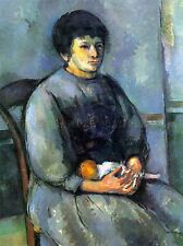 PAUL CEZANNE WOMAN WITH DOLL OLD MASTER ART PAINTING PICTURE POSTER 2143OMLV
