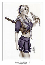 BABYDOLL SUCKER PUNCH - Sexy Pin-Up Print by Lady Death Artisit ALEX MIRANDA