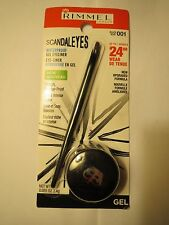 RIMMEL SCANDALEYES GEL EYELINER 24HR 001 BLACK waterproof .085oz