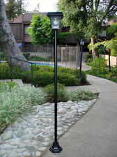 "77"" SOLAR POWERED BRIGHT LED VINTAGE LAMP POST STREET LIGHT FOR GARDEN LAWN HOME"